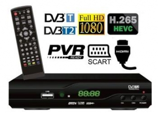 DI-WAY T2-ONE HEVC H.265 DVB-T/T2, FullHD PVR R